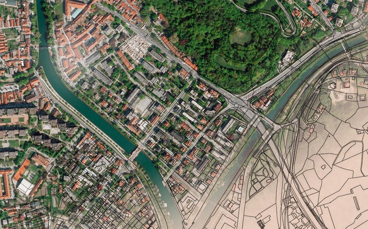 Zemljiški kataster, vir: www.sinergise.com