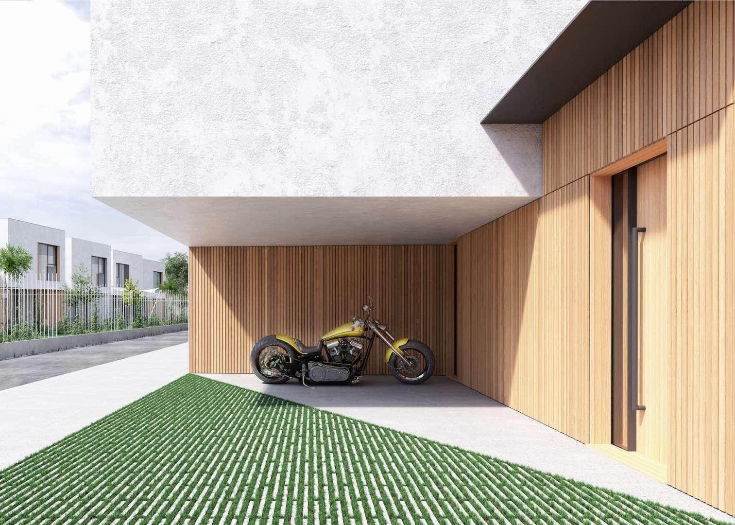 Lesena prezračevana fasada na vrstnih hišah Studenci. Vir: Coinhab Arhitektura