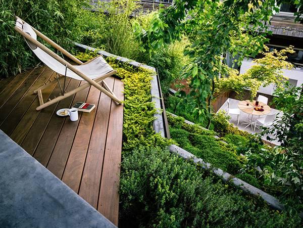 Ureditev vrta na terasi