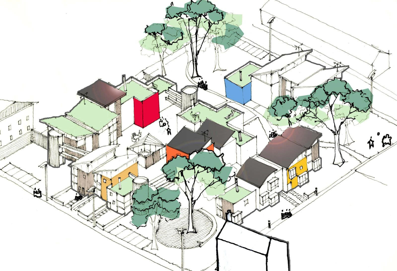 Cohousing, vir: www.nclurbandesign.org